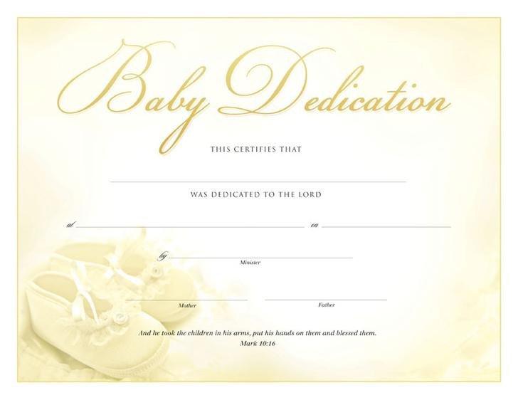 Baby Dedication Certificate Templates 18 Baby Dedication Certificate Template Free Download