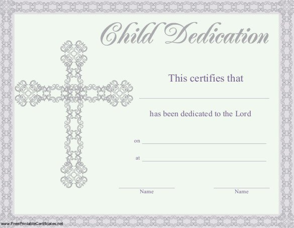Baby Dedication Certificate Templates Baby Dedication Certificate