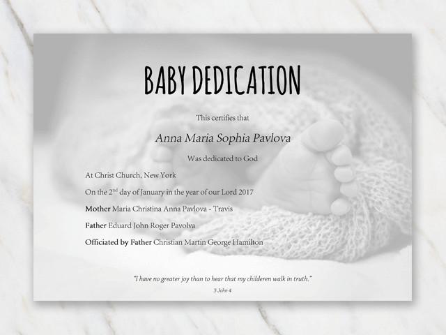 Baby Dedication Certificate Templates Baby Dedication Certificate Template for Word [free Printable]