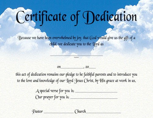 Baby Dedication Certificate Templates Best S Of Baby Certificate Template Free Printable