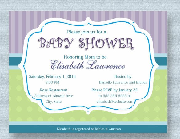 Baby Shower Card Template 39 Baby Shower Invitation Templates Psd Vector Eps Ai