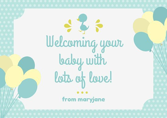 Baby Shower Card Template Baby Blue themed Baby Shower Card Templates by Canva