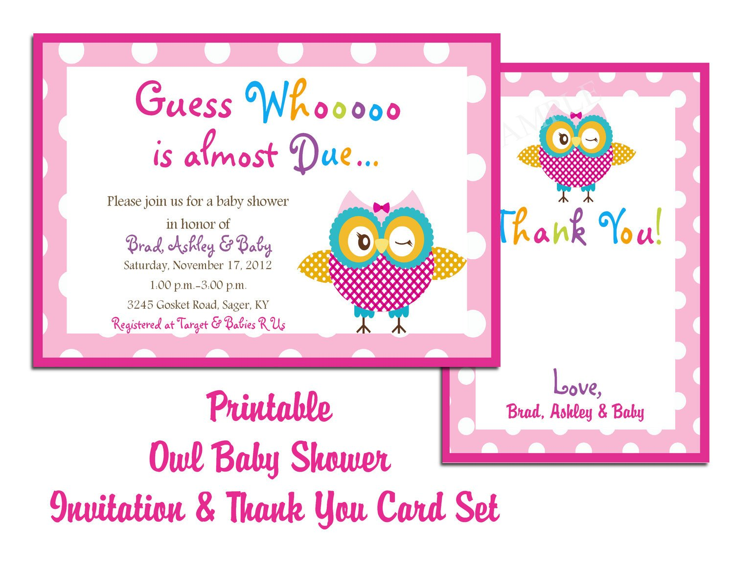 Baby Shower Card Template Blog