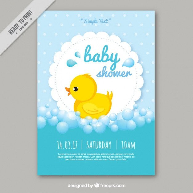 Baby Shower Card Template Cute Baby Shower Card Template Vector