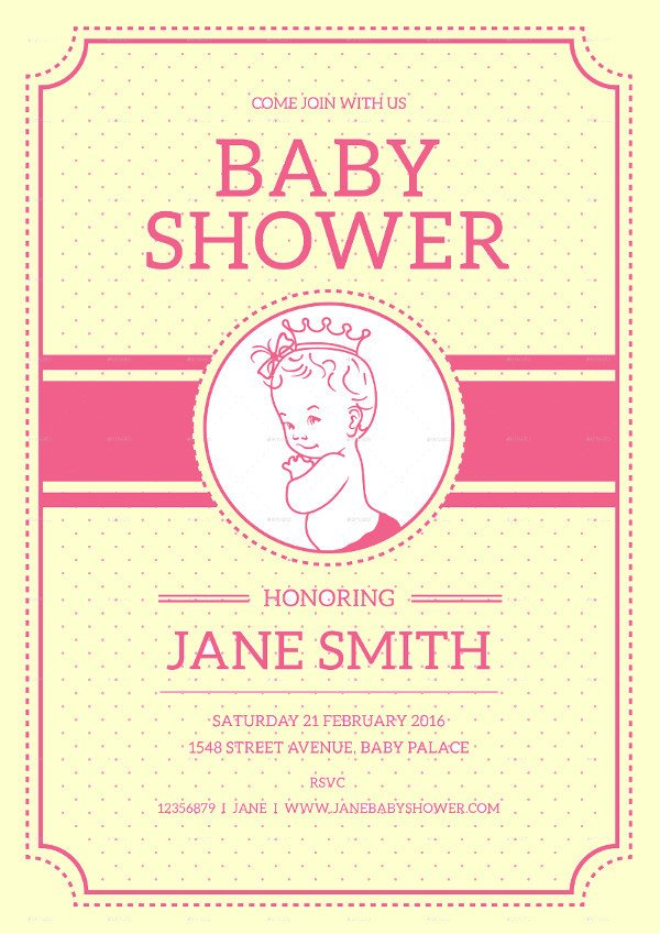 Baby Shower Flyers Template 21 Baby Shower Flyer Templates Psd Ai Illustrator Download
