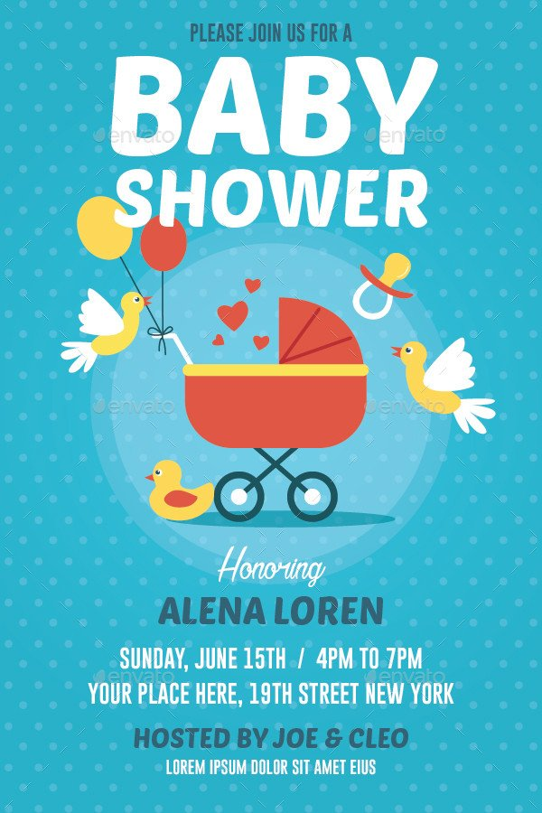 Baby Shower Flyers Template Baby Shower Flyer by Bonezboyz9