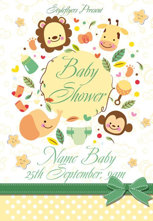 Baby Shower Flyers Template Baby Shower Free Flyer Template Download for Shop