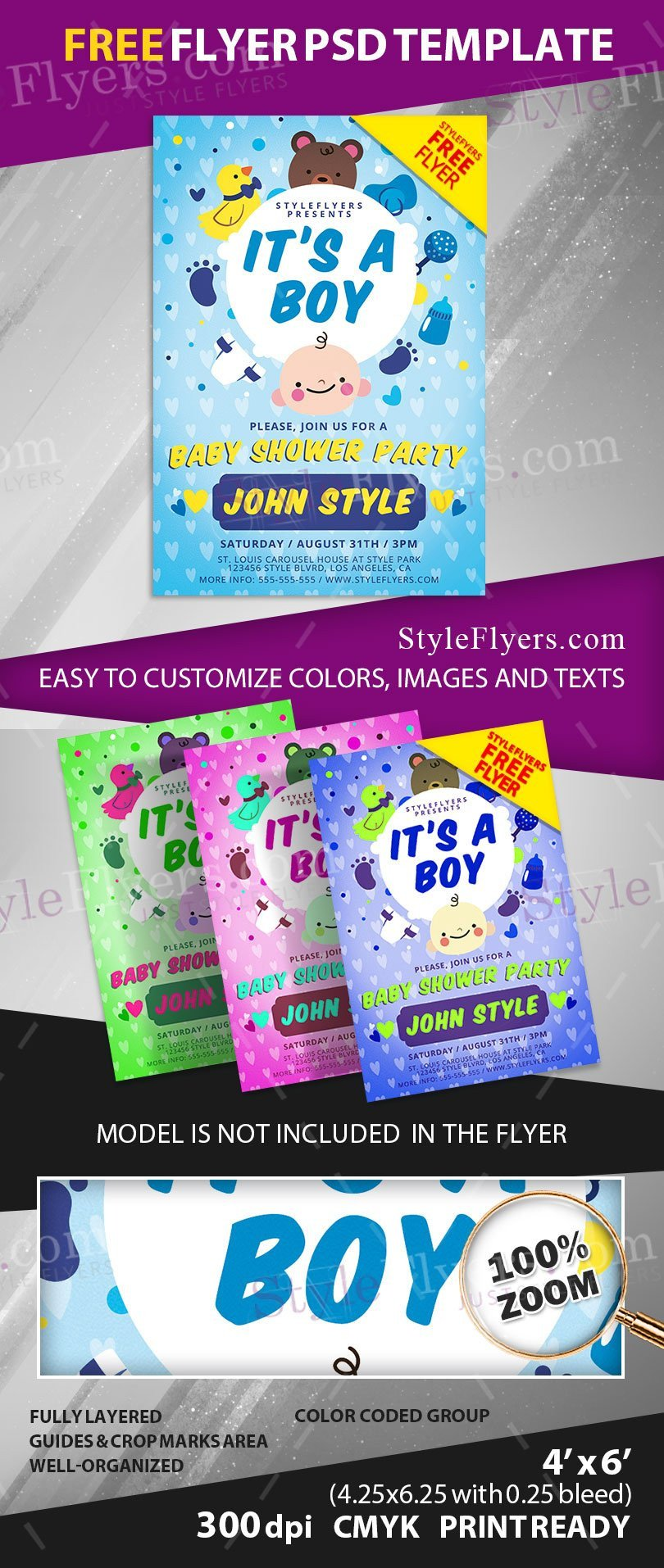 Baby Shower Flyers Template Baby Shower Free Psd Flyer Template Free Download