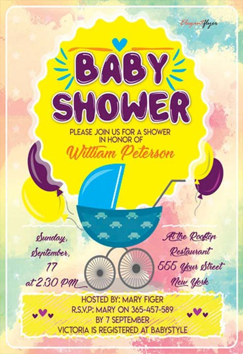 Baby Shower Flyers Template Baby Shower Party Flyer Template Download Free Flyer