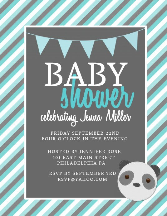 Baby Shower Flyers Template Baby Shower Template