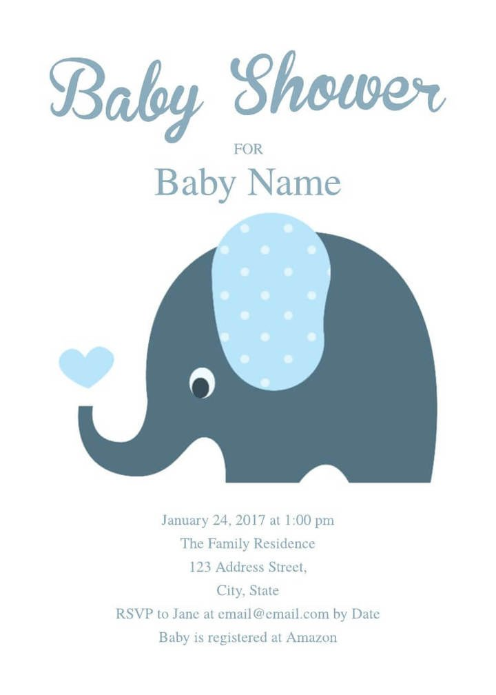 Baby Shower Invitation Free Template 16 Free Invitation Card Templates & Examples Lucidpress