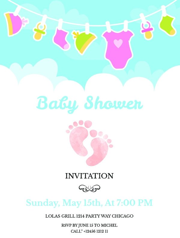 Baby Shower Invitation Free Template 59 Unique Baby Shower Invitations