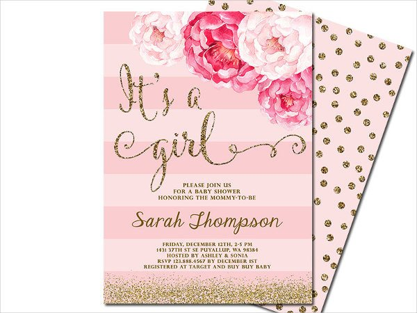 Baby Shower Invitation Template 63 Unique Baby Shower Invitations Word Psd Ai