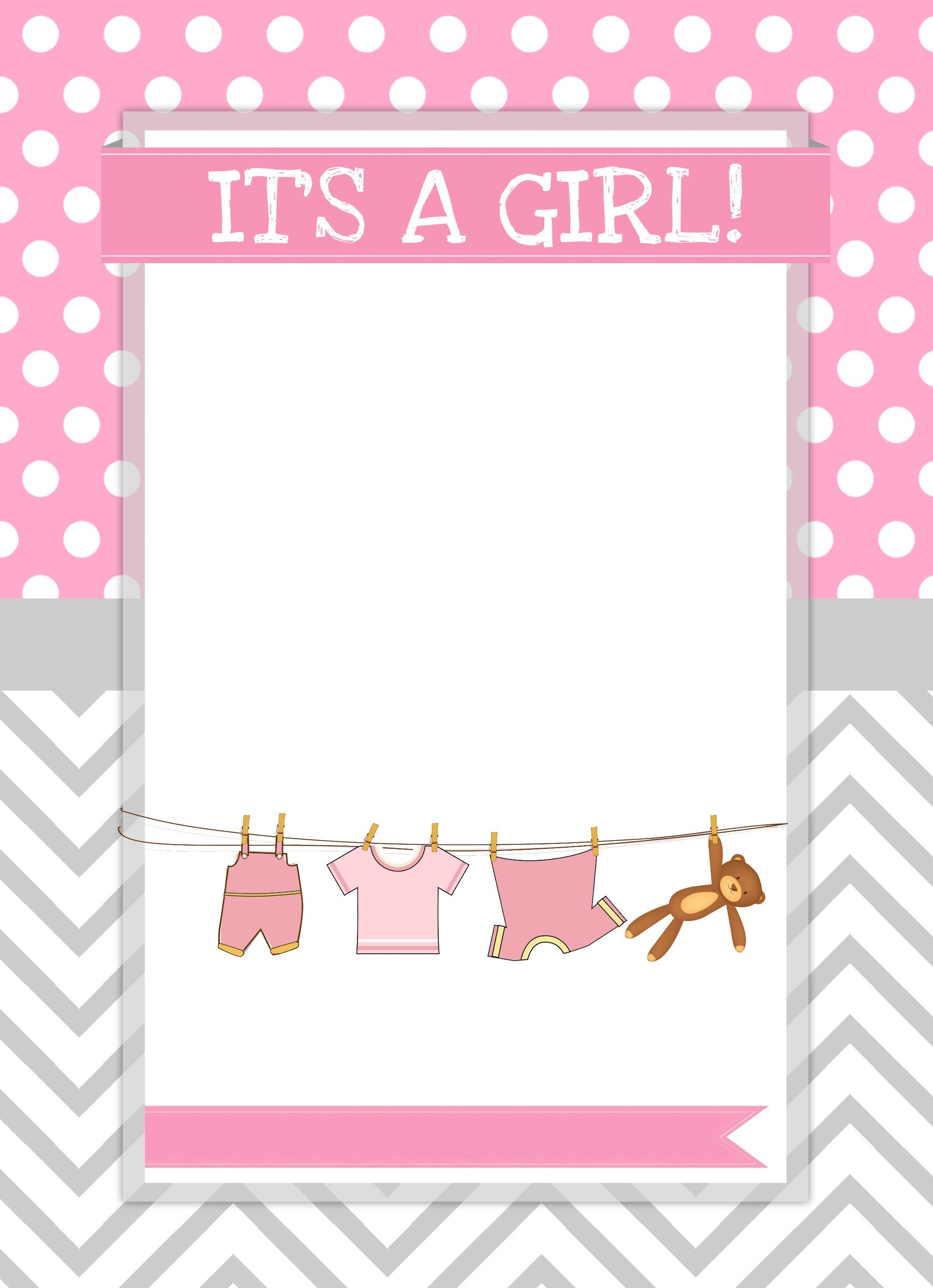 Baby Shower Invitation Template Baby Girl Shower Free Printables How to Nest for Less™