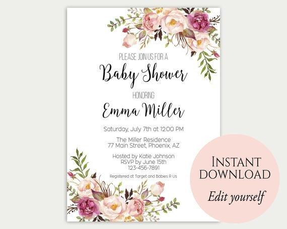 Baby Shower Invitation Template Baby Shower Invitation Template Baby Shower Invite Baby