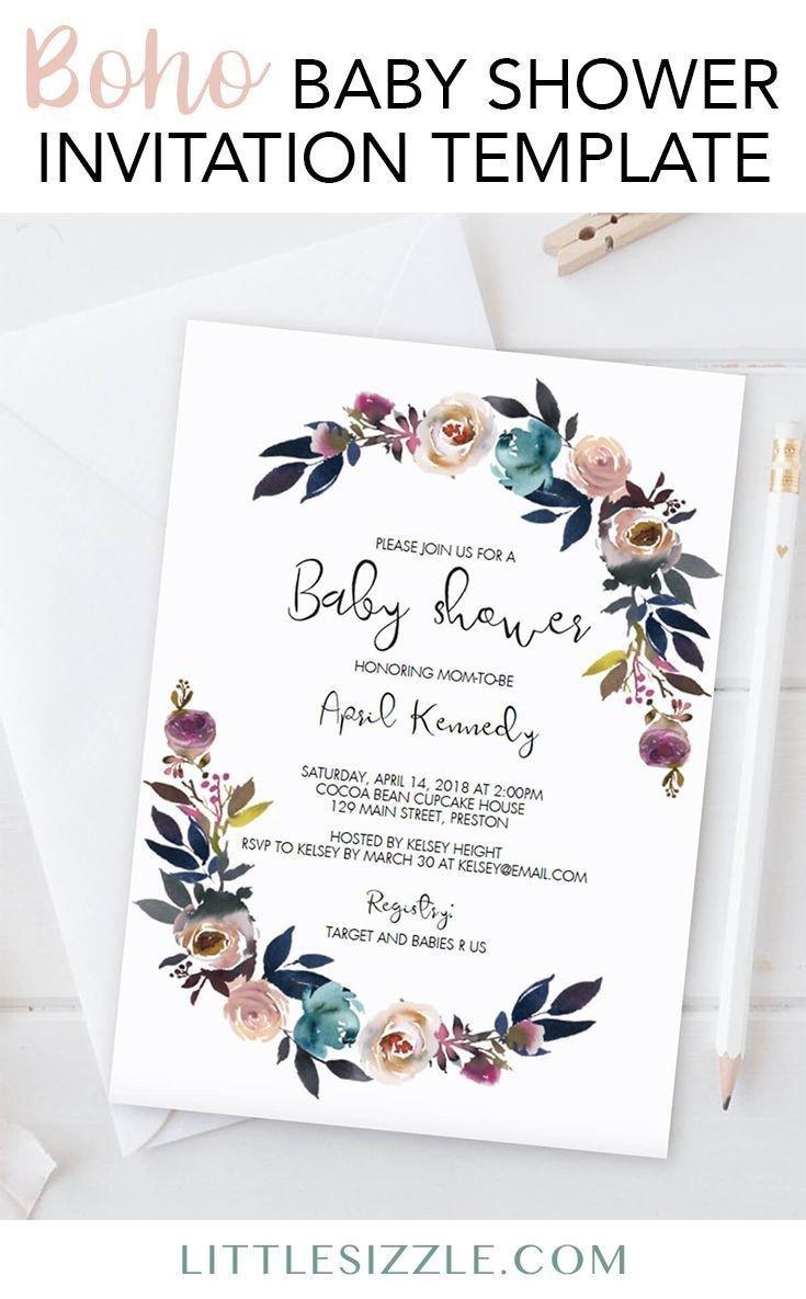 Baby Shower Invitation Template Best 25 Baby Shower Templates Ideas On Pinterest