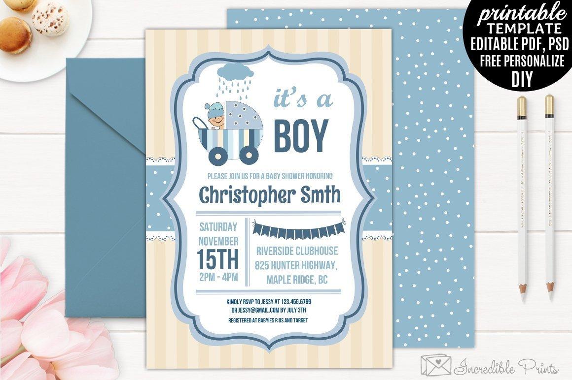 Baby Shower Invitation Template Boy Baby Shower Invitation Template Invitation Templates