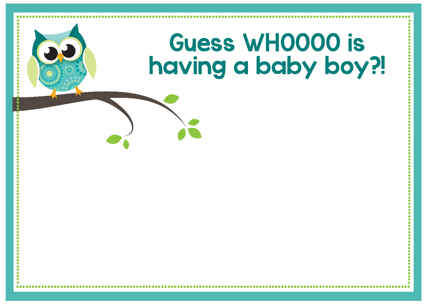 Baby Shower Invitation Template Free Printable Owl Baby Shower Invitations & Other