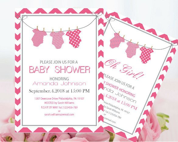 Baby Shower Invitations Templates Editable 14 Esie Template Free Psd Vector Eps Ai format