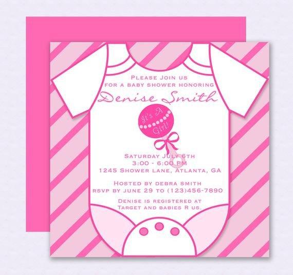 Baby Shower Invitations Templates Editable Pink Esie Baby Shower Invitation Editable Template