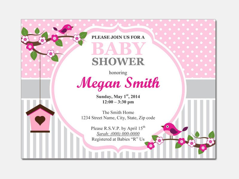 Baby Shower Invite Template Word Baby Shower Invitations Templates for Word Party Xyz