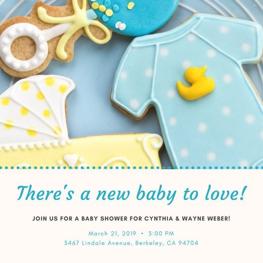 Baby Shower Invite Template Word Customize 832 Baby Shower Invitation Templates Online Canva