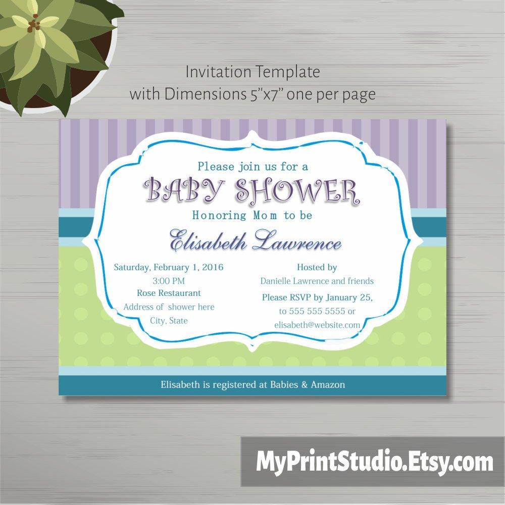 Baby Shower Invite Template Word Printable Baby Shower Invitation Template In Ms Word Boy Girl