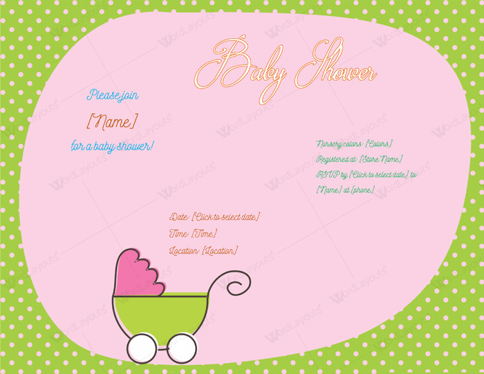 Baby Shower Invite Template Word Use A Baby Shower Invitation Template 5 Printable Designs