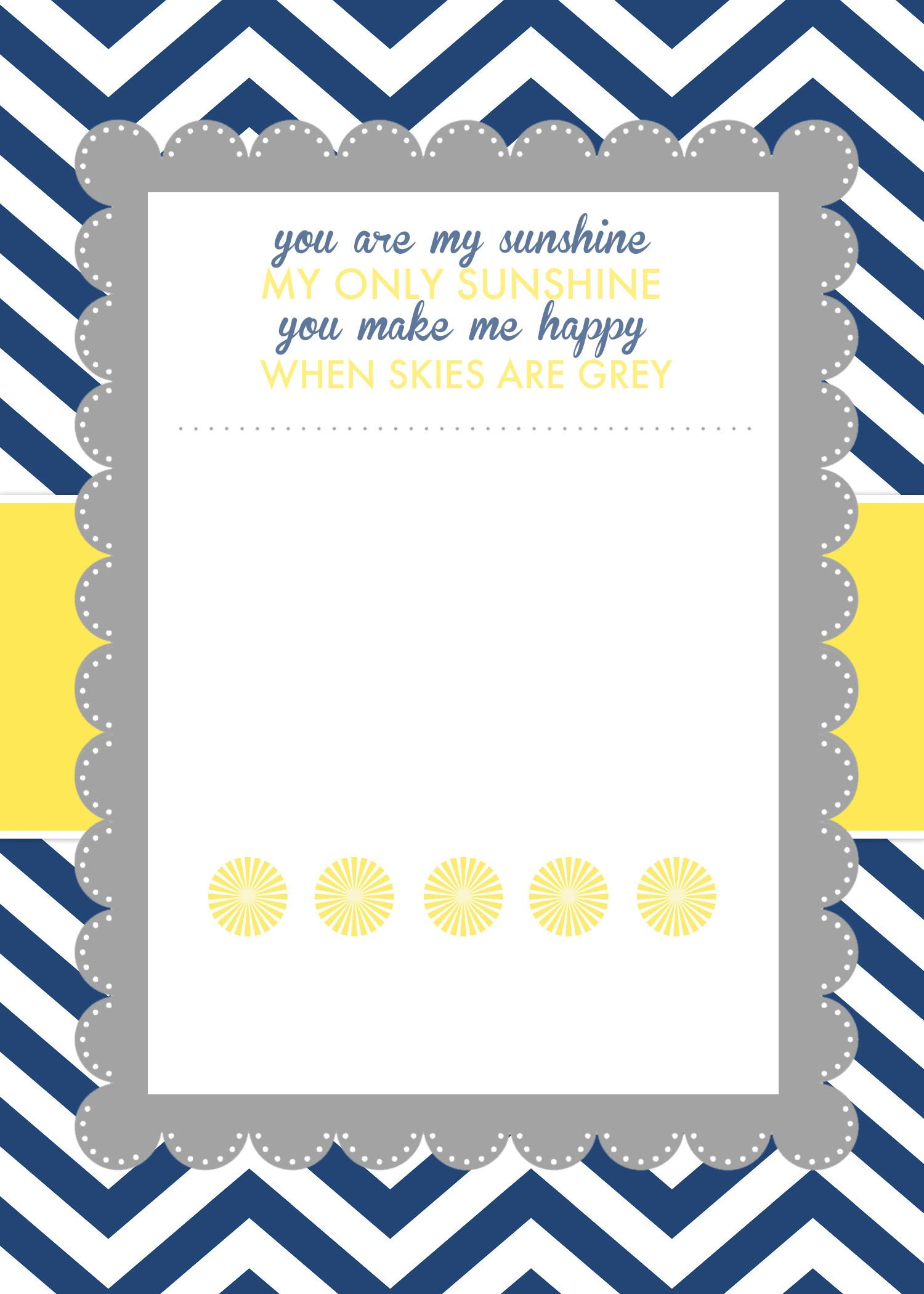Baby Shower Invite Template Word You are My Sunshine Baby Shower Printables How to Nest