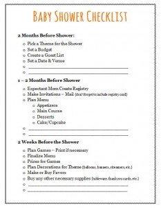 Baby Shower Planning Checklist Baby Shower Checklist Plan Your event Frugal Fanatic