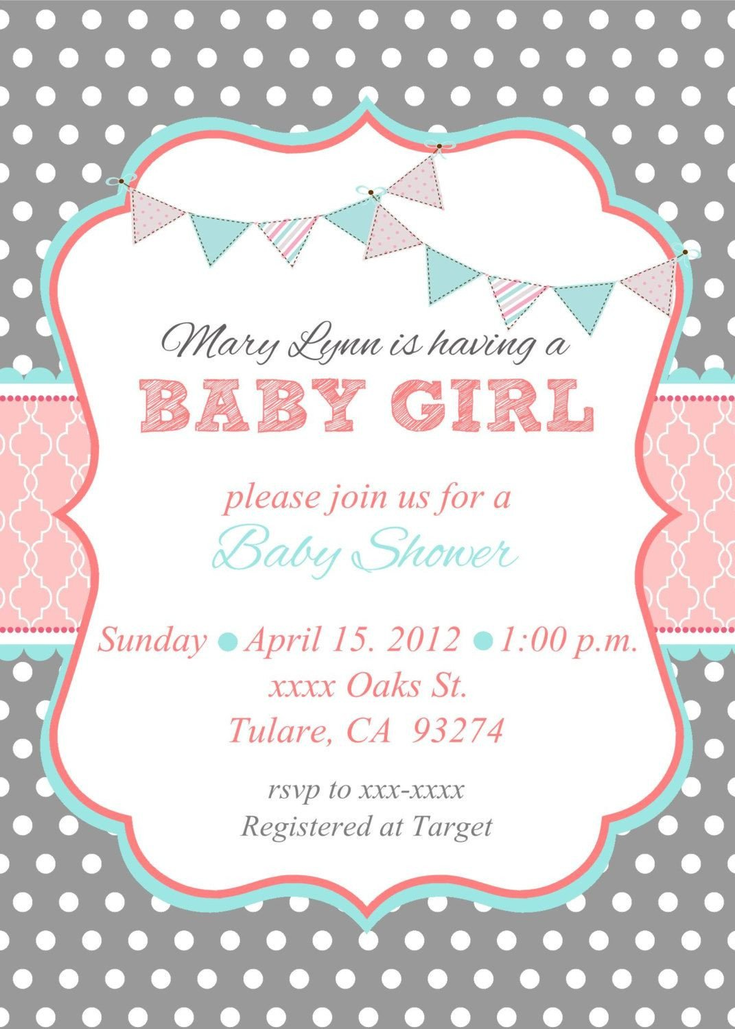 Loca Date Time Line about diaper raffle & spa prize