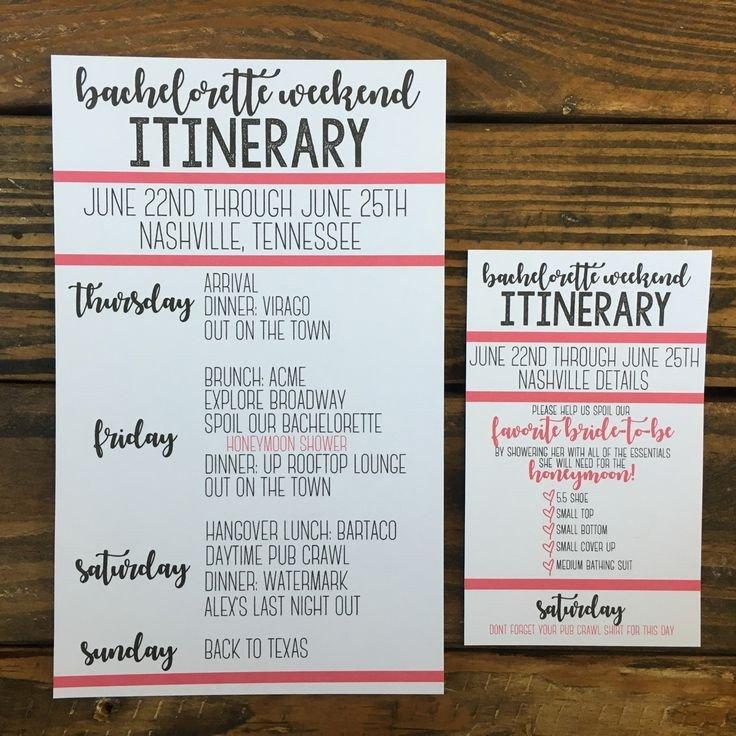 Bachelorette Itinerary Template Free Best 25 Bachelorette Itinerary Ideas On Pinterest