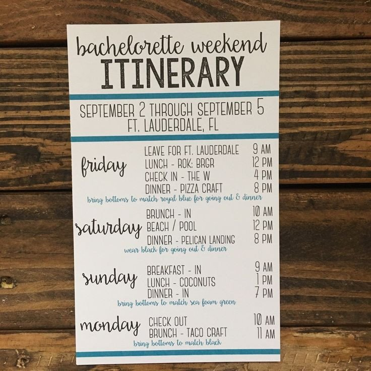 Bachelorette Itinerary Template Free I Love that This is so Versatile It Can Be Used as A