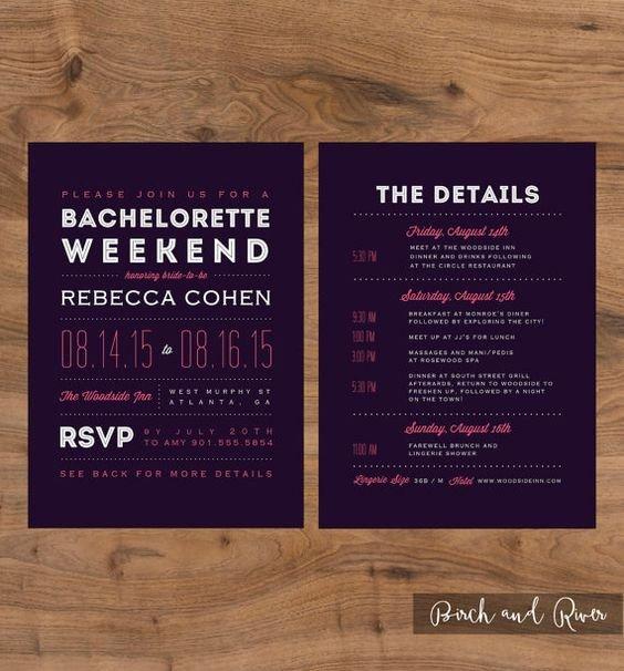 Bachelorette Itinerary Template Free Printable Bachelorette Weekend Invitation and Itinerary