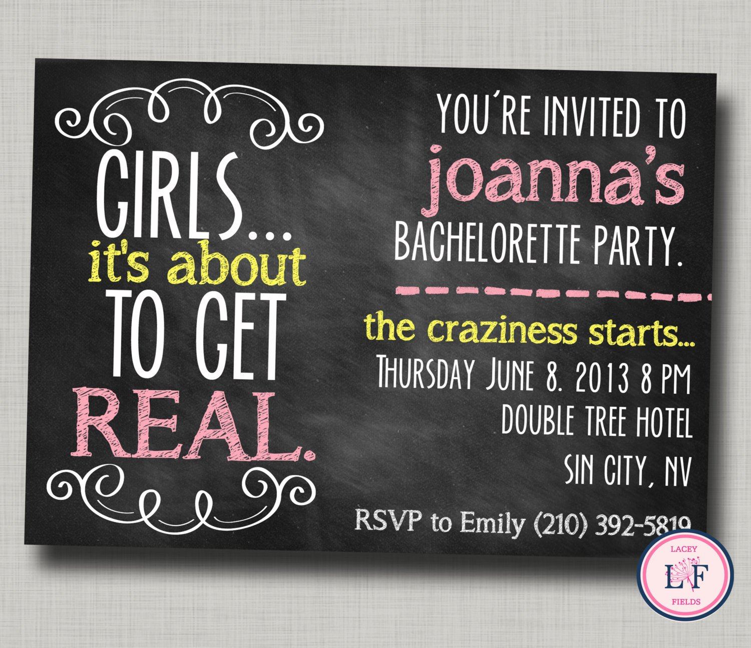 Bachelorette Party Invitations Template Free Bachelorette Party Invitation Printable Chalkboard by