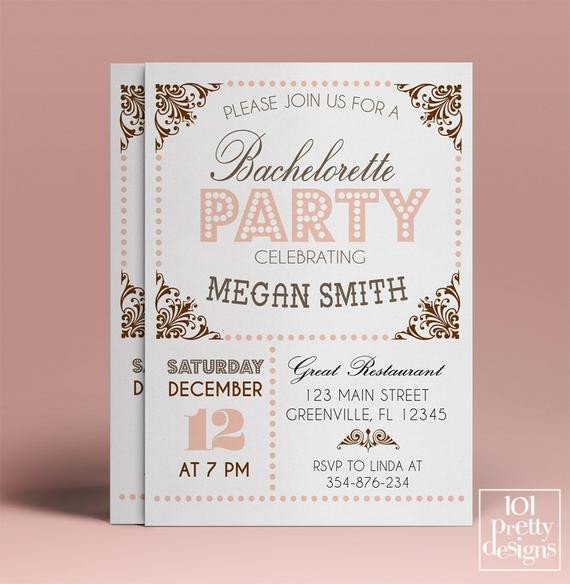 Bachelorette Party Invitations Template Free Bachelorette Party Invitation Template Printable Bachelorette