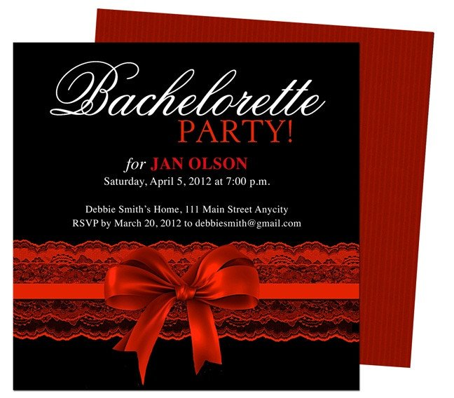 Bachelorette Party Invitations Template Free Bachelorette Party Invitations Templates Scarlet Red