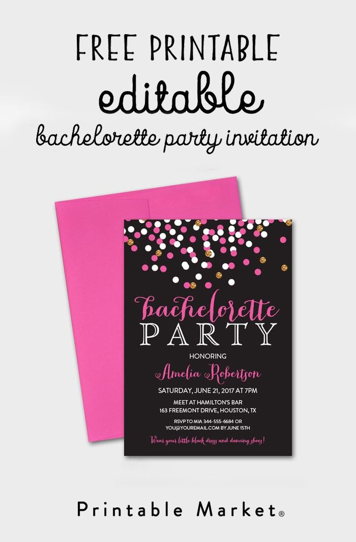 Bachelorette Party Invitations Template Free Free Editable Bachelorette Party Invitation Gray Hot