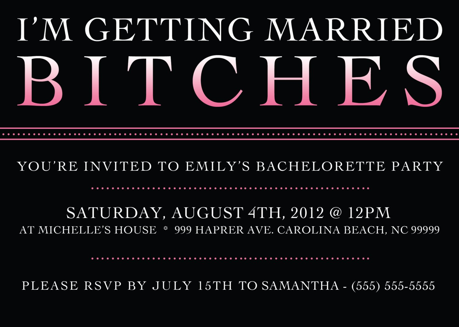 Bachelorette Party Invitations Template Free Printable Bachelorette Party Invitation 5 X 7 Bachelorette