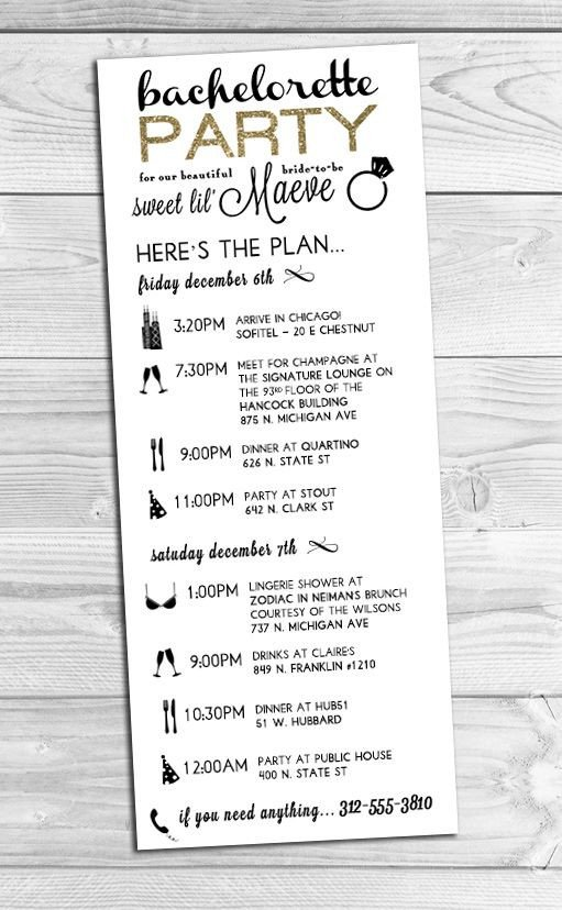 Bachelorette Party Itinerary Template 25 Best Ideas About Wedding Weekend Itinerary On