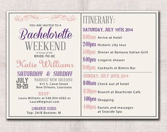 Bachelorette Party Itinerary Template Image Result for Bachelorette Itinerary Template