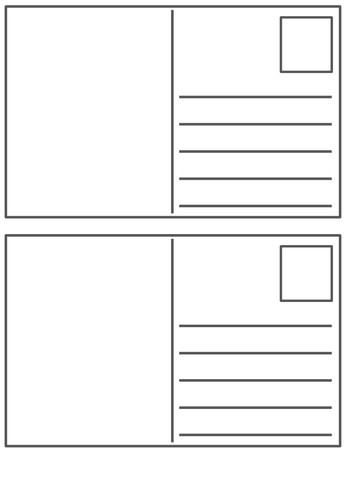 Blank postcard template by Peaches1980