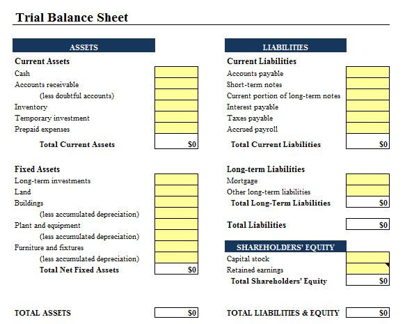 Balance Sheet Template Xls 9 Balance Sheet formats In Excel Excel Templates