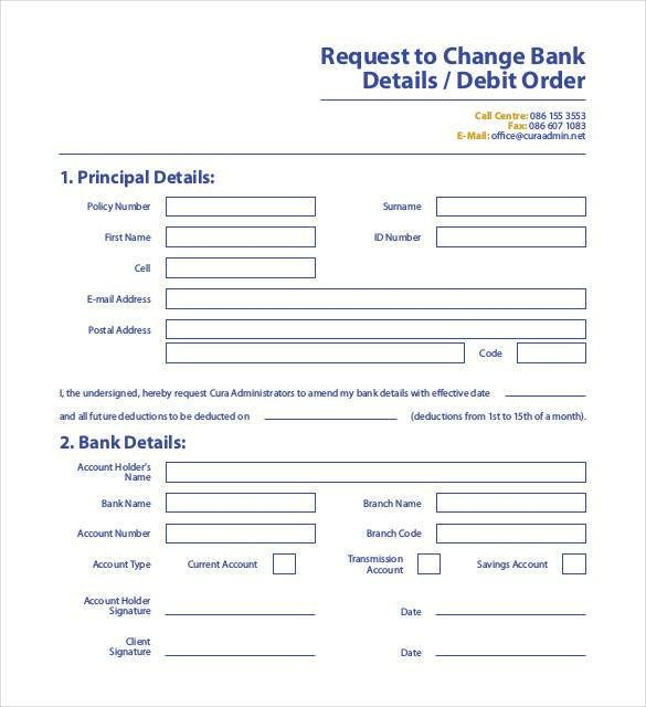 Bank Change order form Template 24 Change order Templates Pdf Doc
