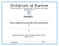 Baptism Certificate Template Word 1000 Images About Church Certificates On Pinterest