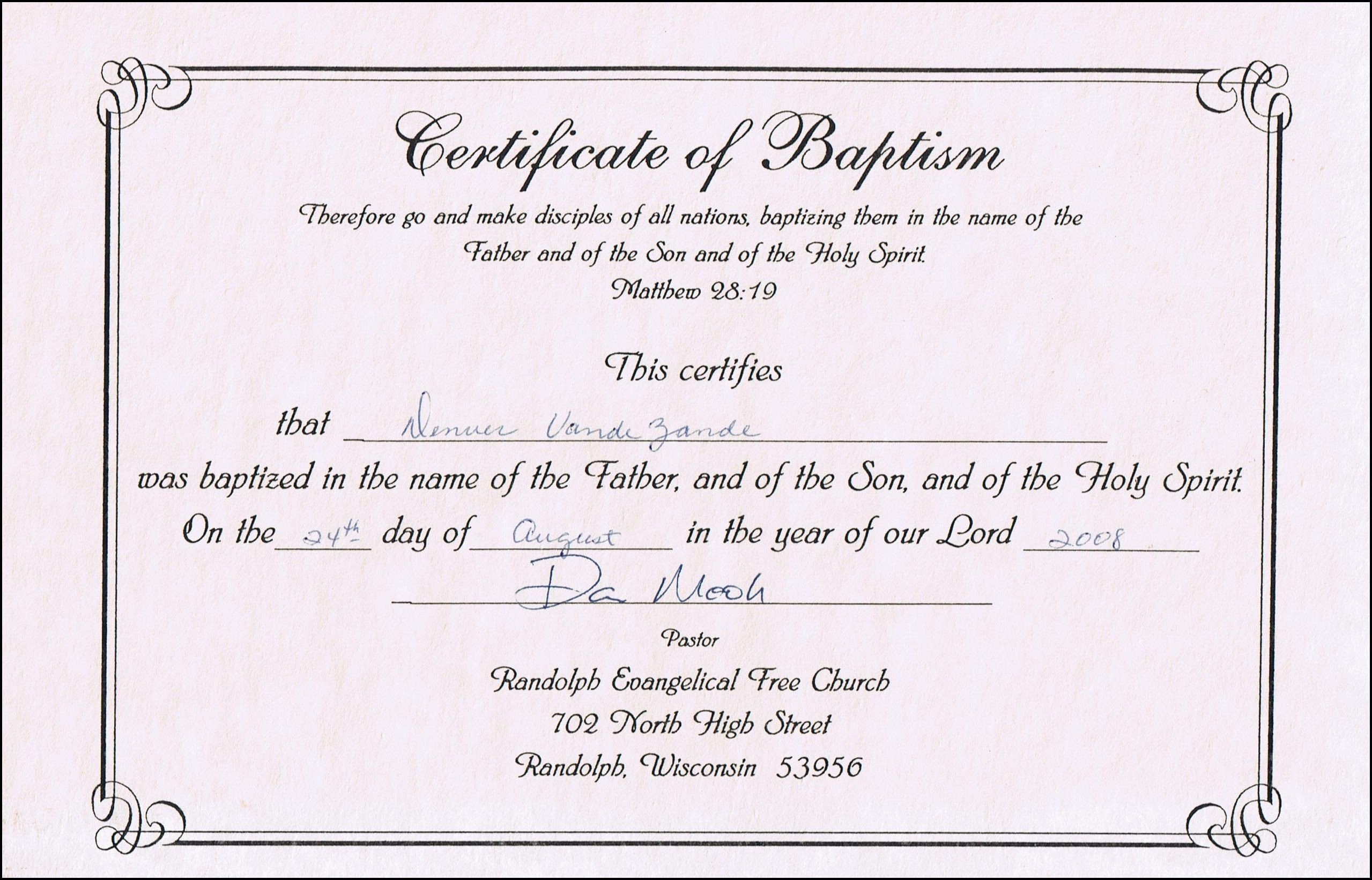 Baptism Certificate Template Word Baptism Certificate Templates for Word