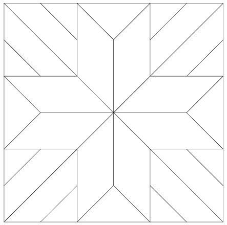 Barn Star Template Free Printable Quilt Pattern Template