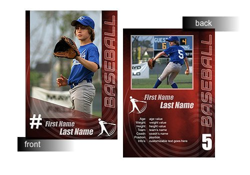 Baseball Card Template Photoshop 15 Psd Football Trading Card Baseball Trading