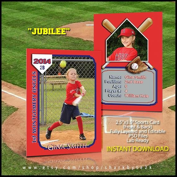 Baseball Card Template Photoshop 2017 Baseball Sports Trader Card Template for Shop