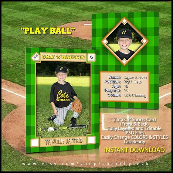 Baseball Card Template Photoshop 2017 Baseball Sports Trader Card Template for Shop Play